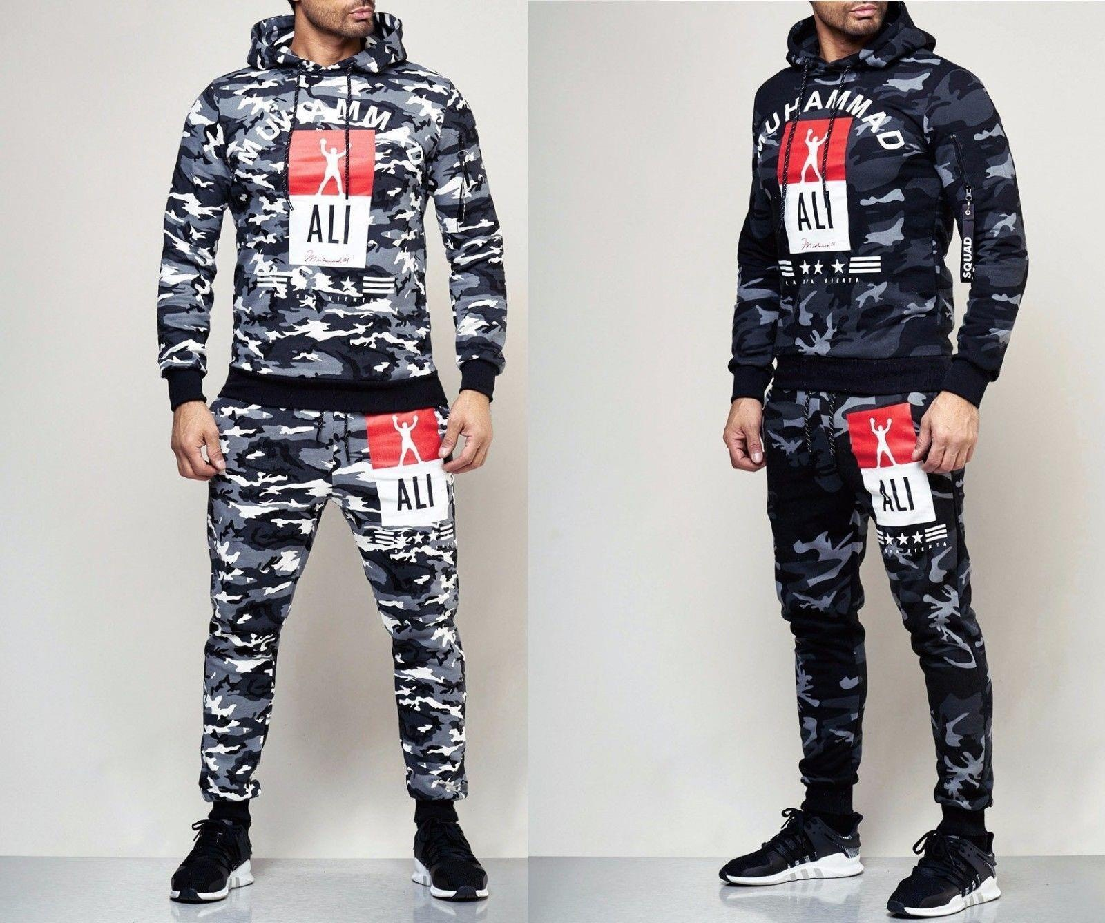 2018 New Style/AliExpress Europe And America MEN'S Suit Champion Printed Hoodie Sweatpants Sports Set