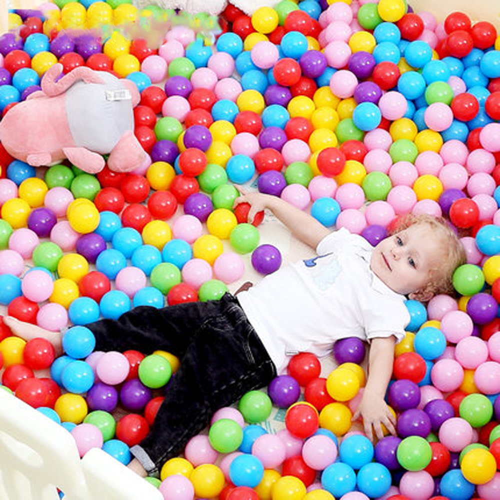 400 pcs/lot Eco-Friendly colored Soft Plastic Water Pool Ocean Wave Ball Baby Toys Stress Air Ball Outdoor Fun Sports Kid Toys(China)