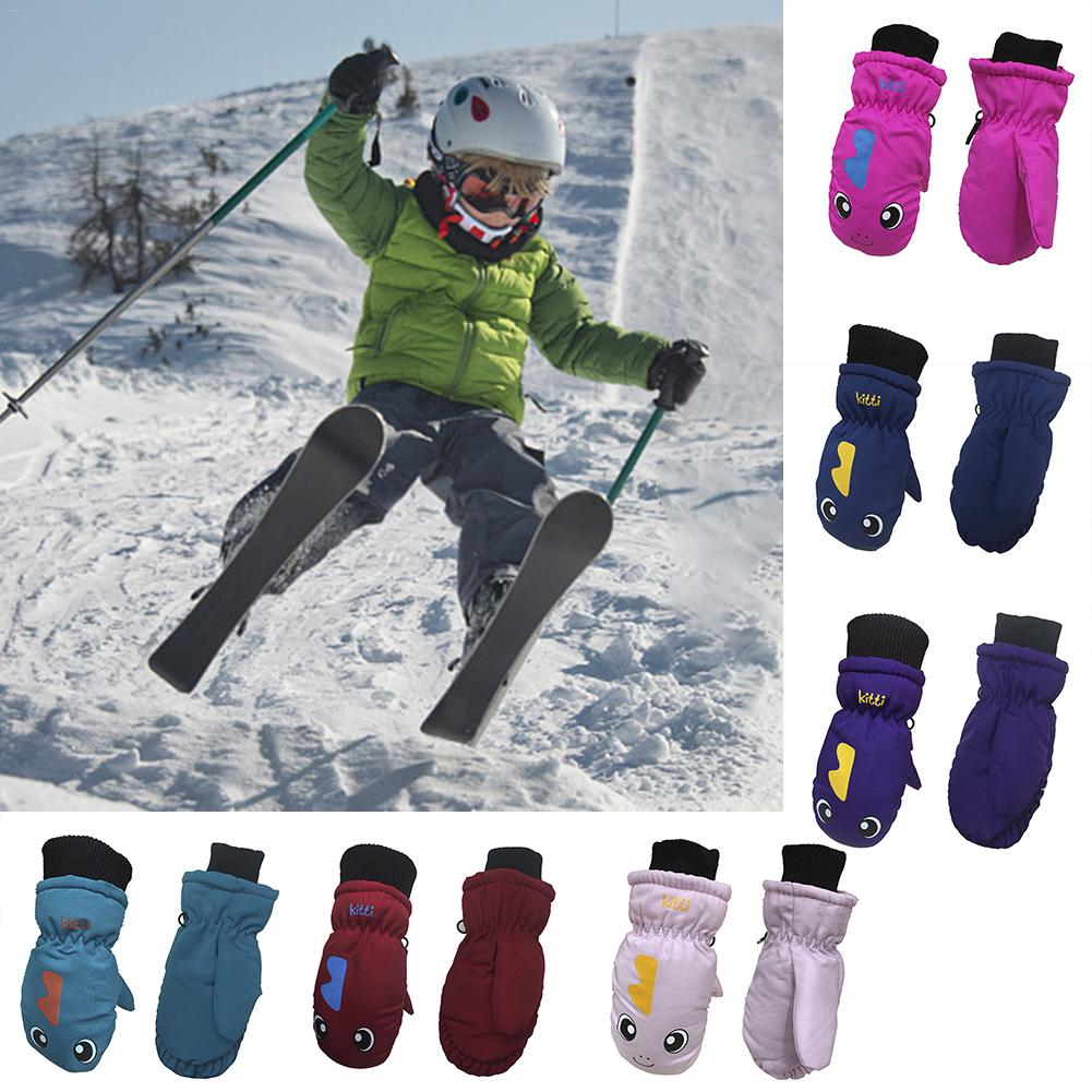 Children's Thickening Warm Ski Gloves Lovely Waterproof And Windproof Sports Gloves Uniform Code