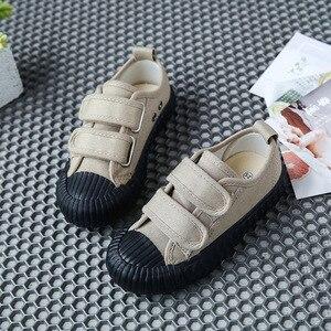 Image 5 - 春の秋の子供スニーカーキャンバスシューズ子供のスポーツの靴女の子少年靴
