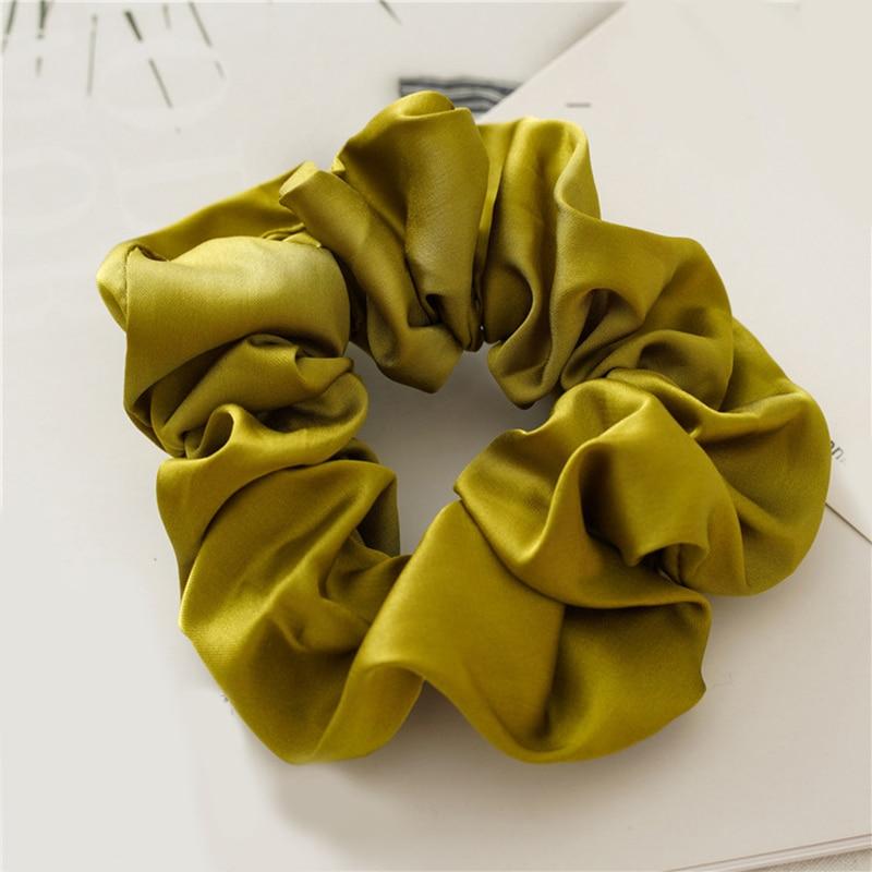 Новое поступление модные женские красивые атласные резинки для волос яркого цвета резинки для волос для девушек аксессуары для волос конский хвост держатель - Цвет: q10