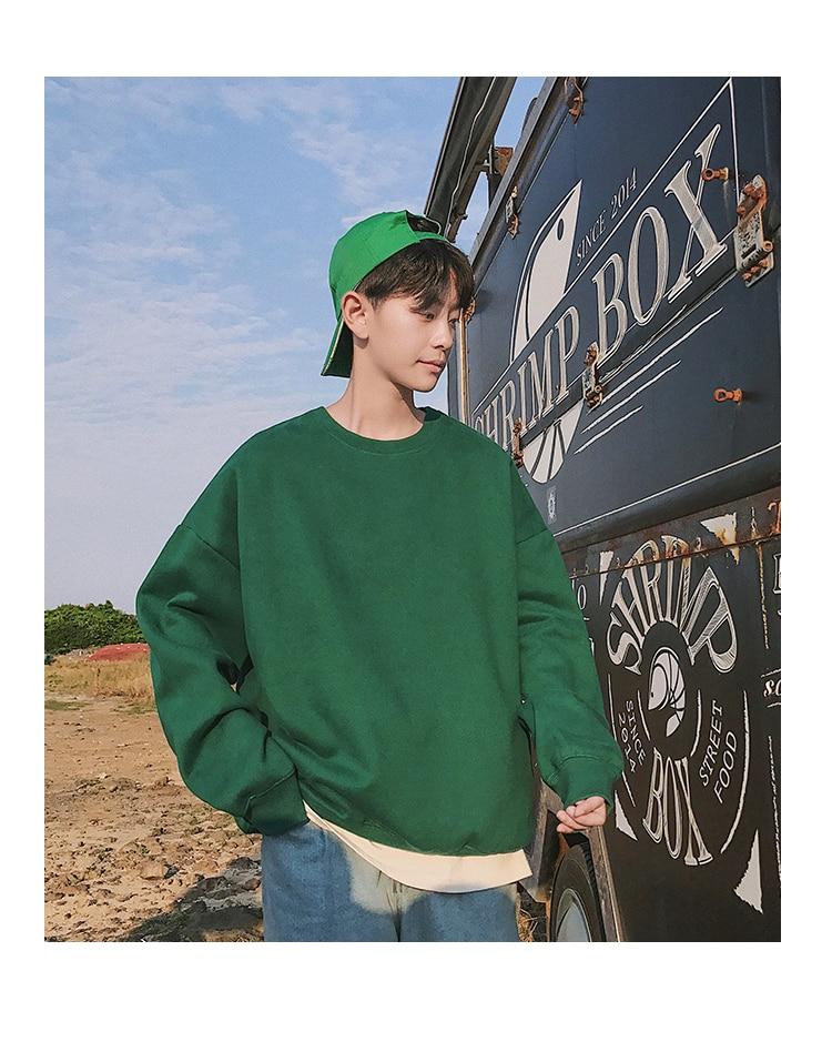 Men Hoodies Sweatshirts Street wear Black Hoodie Male Hip hop Winter Basic Hoodies 67