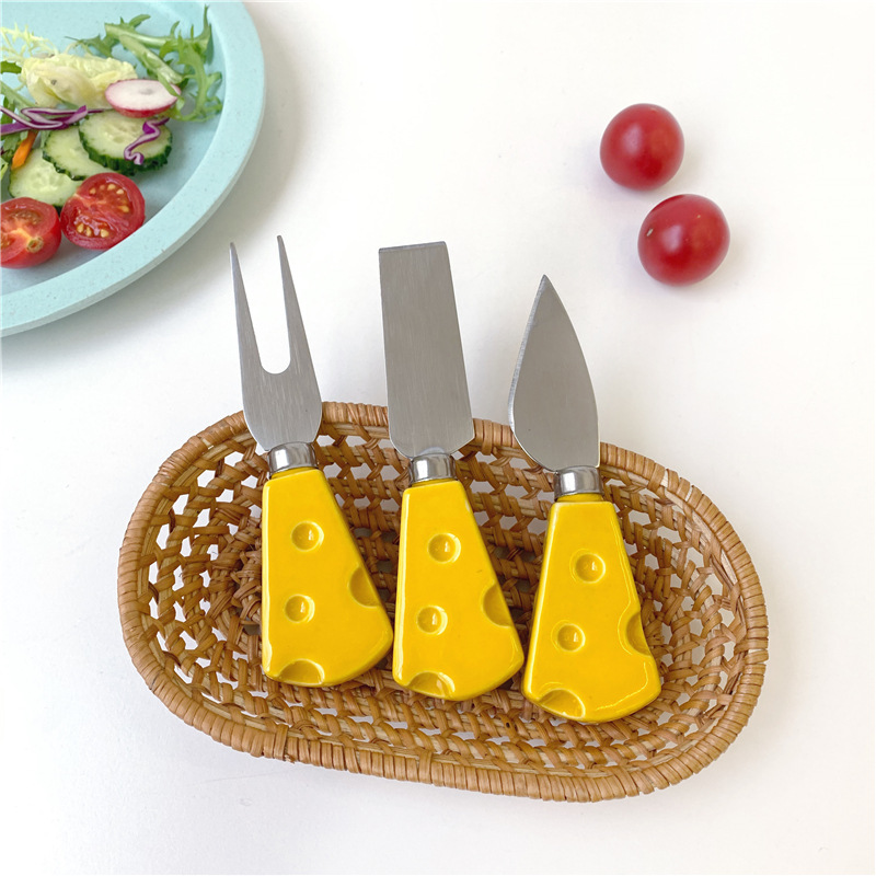 1 Pc Korea Creative Cute Knife And Fork Kawaii Cheese Styling Butter Fork Cute Baking Props Butter Dessert Gifts For Kids