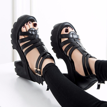 chunky heel sandals punk shoes Sandals High Heels Platform