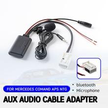 Aux-ресивер bluetooth для Mercedes, для Benz W169, W245, W203, W209, W164, кабельный адаптер с микрофоном, беспроводной интерфейс Aux