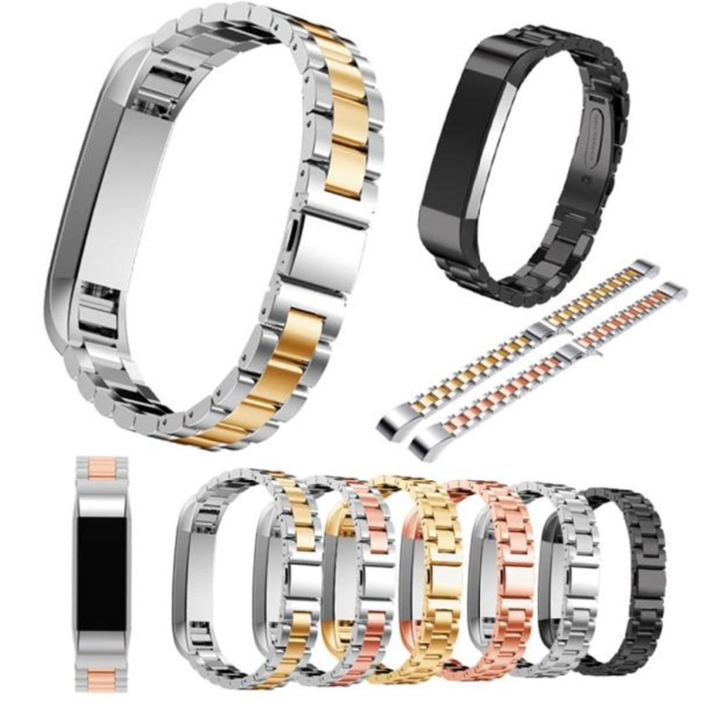 Correa de reloj de pulsera enlaces para Fitbit Alta HR correas enlaces de acero inoxidable bandas de reloj inteligente reemplazo de Alta calidad