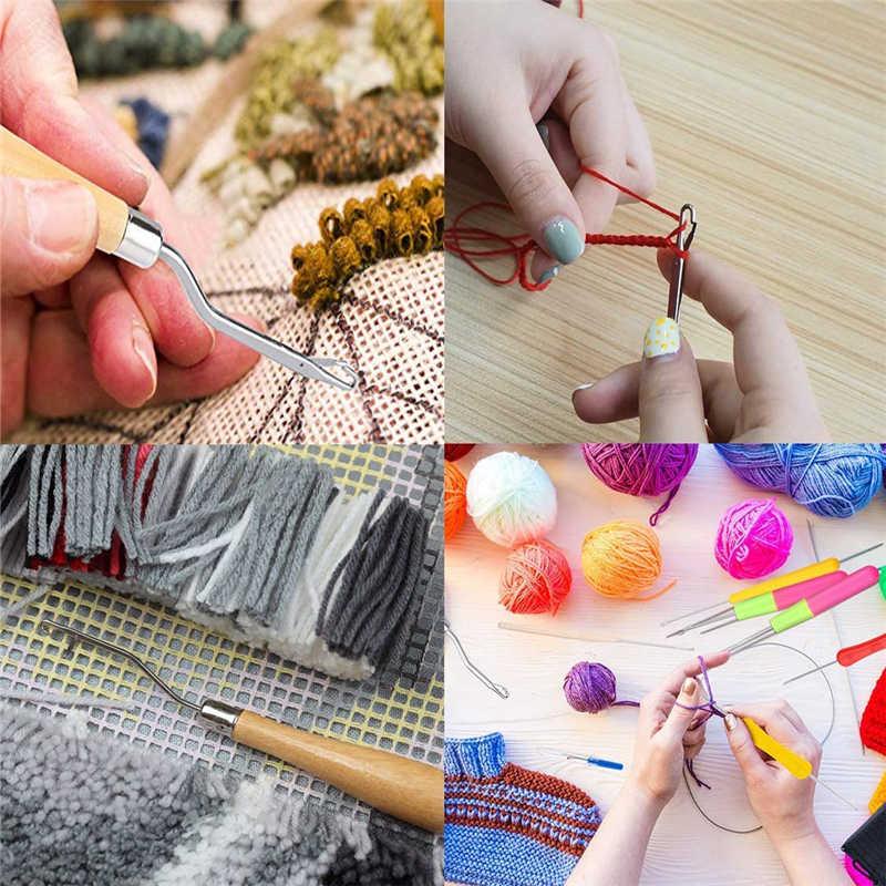 MIUSIE 5 teile/satz Kunststoff Häkeln Nadel Flechten Latch Haken Weben Haar Dreading Haken Werkzeug Für Braid Handwerk Hand Nähen Nadeln