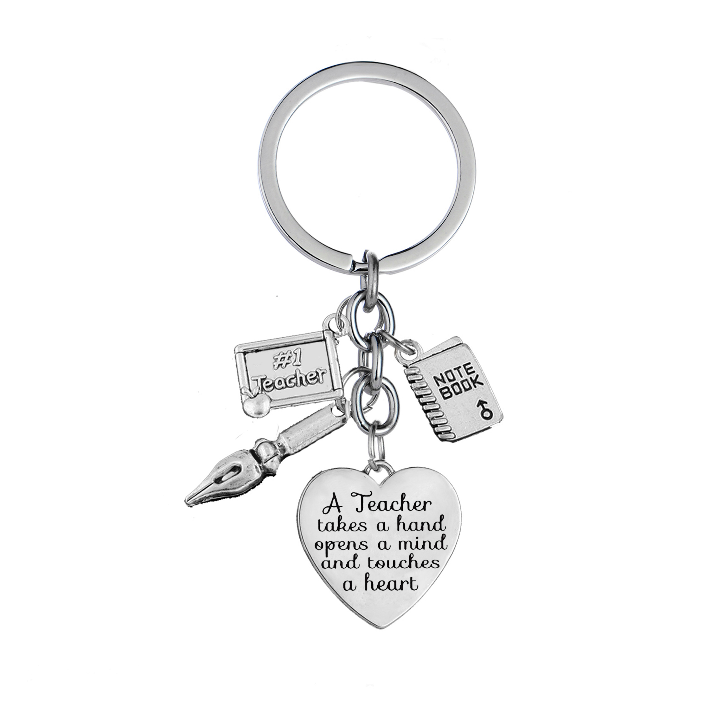 Teacher Thank You Gift Personalised With Gift Bag Charm Keyring