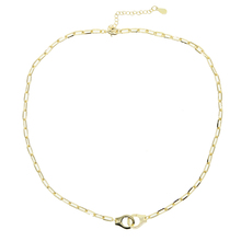 Gold Necklace Pendants 925-Sterling-Silver Women Mens And Handcuffs Hip-Hop-Style Personality