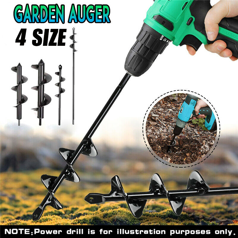 Garden Planting Auger Spiral Hole Drill Bit Small Earth Planter Post Hole Digge Fence Borer Petrol Post Hole Digger Garden Tool