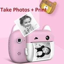 Children Camera Instant Print Camera For Kids HD 1080P 24MP Digital Camera With Thermal Photo Paper Child Toys Camera Toy Gifts