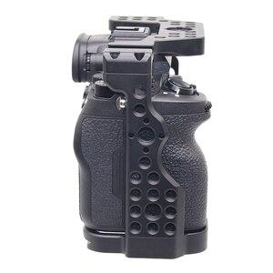 Image 3 - A7R4 Cage Pro A7R IV Cage de caméra pour Sony A7R Mark IV caméra avec 1/4 3/8 trou de filetage poignée supérieure Microphone Flash alliage léger fait