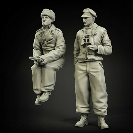 1/35  Ancient Officers Kharkov  Include 2 Resin Figure Model Kits Miniature Gk Unassembly Unpainted