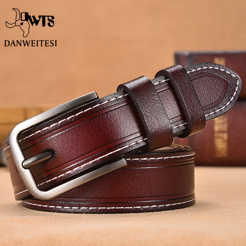 【DWTS】Women Belt Designer Female Belt Genuine Leather Belts For Women Female Strap Pin Buckle Belts Fancy Vintage For Jeans