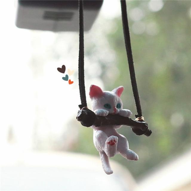 Anime Dễ Thương Xe Đồ Trang Trí Không Kén Khuôn Mặt Nam Mèo Mặt Dây Chuyền Tự Động Gương Chiếu Hậu Mặt Dây Chuyền Tặng Sinh Nhật Tự Động Decoraction Phụ Kiện Coche 5