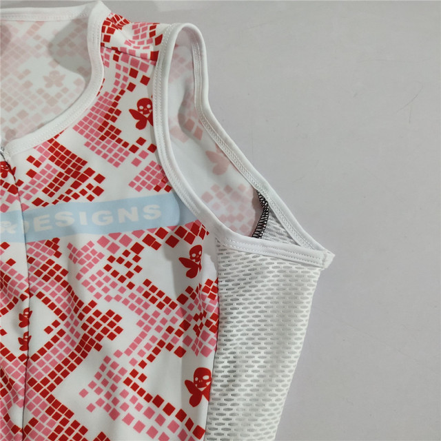 Betty 2020 mulher triathlon ciclismo skinsuit verão sem mangas maiô personalizado bicicleta corpo terno ciclismo roupas macacão 4
