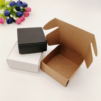 100pcs Black/White/Kraft Paper Boxes Packaging Jewelry Box for Necklace Packaging Jewelry Display Storage Small Paper Gift Boxes 10pcs brown kraft paper box gift packing box gift boxes for jewelry wedding necklace jewelry packaging display storage boxes