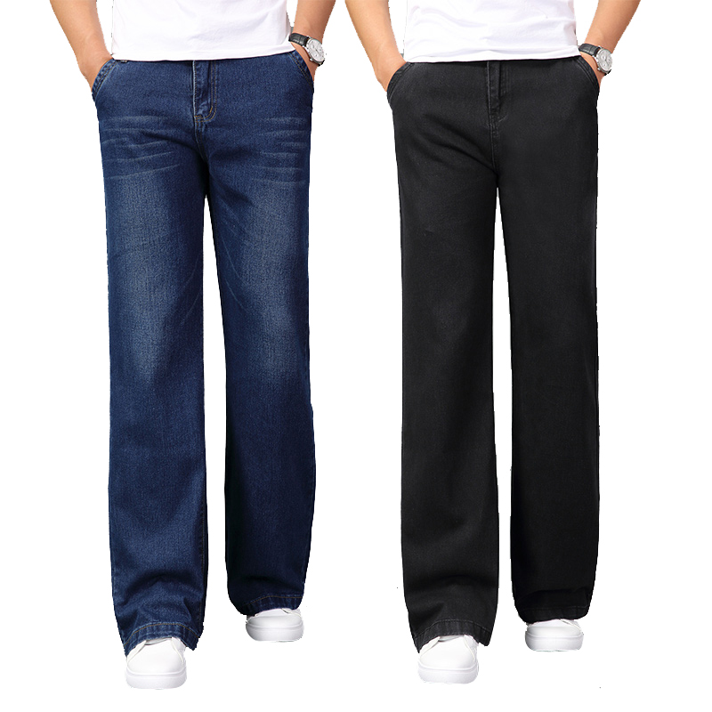 Men's  Wide-leg Long Jeans Casual Bell Blue Jeans Trousers For Man Bootcut Jeans Pants Male Spring 2020 New