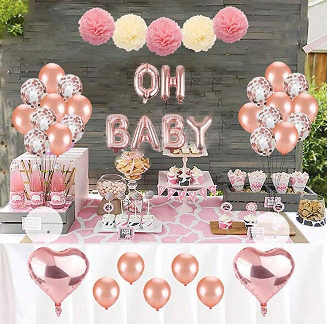 16 cali różowe złoto srebro Oh litery baby z balonów foliowych Banner dla noworodka chrzciny płeć ujawnić artykuły do dekoracji na imprezę