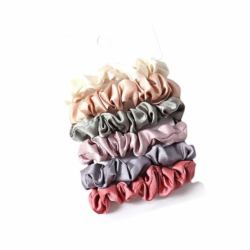 NINES-bande élastique en caoutchouc pour femmes filles | Accessoires pour cheveux ins, corde pour cheveux, gros cheveux, cravate noir bleu rose, 100 pièces