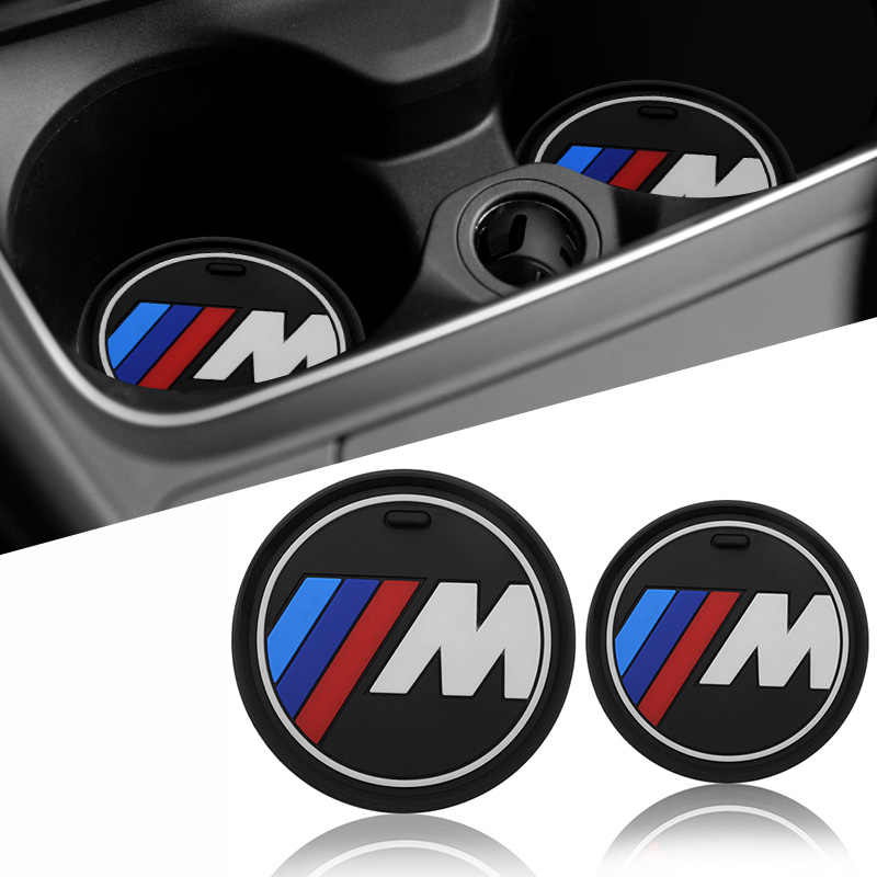 1 Pcs Car Interior Bottiglia di Tazza di Acqua Holder Anti-Slip Pad Zerbino per Bmw M Sticker X1 X3 X4 x5 X6 X7 E46 E90 F20 E60 E39 Accessori