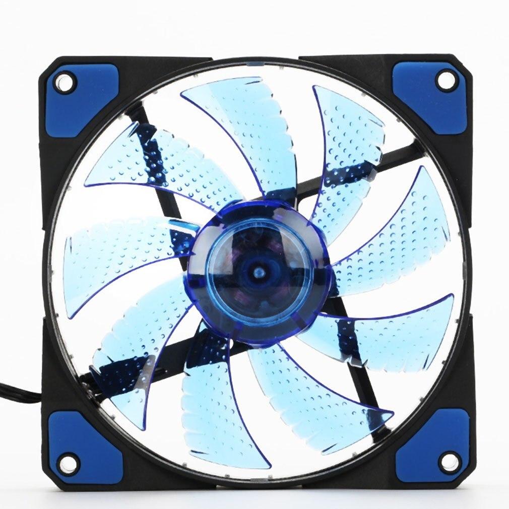Colorful 120mm Fan Cooler Computer Fan 120mm LED Ultra Silent Computer PC Case Fan 15 LEDs 12V Around 1200RPM 3 Pin Fan