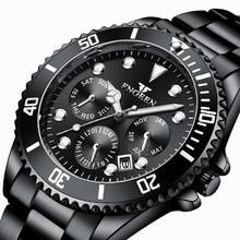 Men's Watch Sport Waterproof Green Luminous for Reloj Calendar Outer-Ring Gift Rotatable