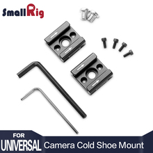 SmallRig Camera Clamp 2PCS Aluminum Cold/Hot Shoe Mount Adapter with 1/4 Mounting Screws for Mounting Flash LED Light Monitor hot cold shoe mount holder adapter 1 4 thread photo studio kit for camera cage video light microphone monitor c1367