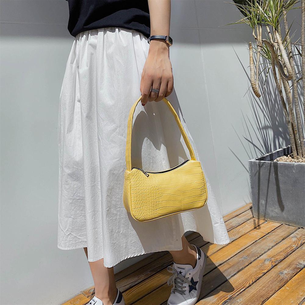 Retro Umhängetasche Vintage Handtasche Hobos Tasche für Frauen PU - Handtaschen - Foto 3