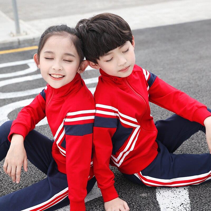 2019 automne école sport uniforme pour garçons et filles adolescents étudiants vêtements décontractés bébé enfants frère soeur uniformes scolaires