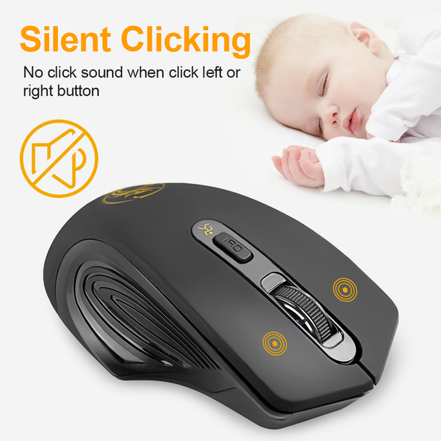 Wireless Mouse USB Computer Mouse Silent Ergonomic Mouse 2000 DPI Optical Mause Gamer Noiseless Mice Wireless For PC Laptop 3