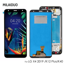 LCD Display For LG K40 K12 Touch Screen Digitizer LCD For LG K12 Assembly Replacement Parts Black No/with Frame 5.7'' black color replacement parts for lg g3 stylus d690 lcd display screen with touch digitizer with frame 1 piece free shipping