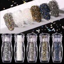 1Pcs Nail Rhinestone Gold Silver Mixed Colorful Crystal Nail Studs Nail Beads 3D Nail Art Decorations Nail Accessories Nail Tips