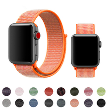 Sport Loop Strap For Apple Watch Series 4 3 band 44mm 40mm Woven Nylon Fabric Bracelet For iwatch band 2 1 38mm 42mm Accessories nylon sport strap for iwatch 5 woven sport loop band for apple watch band 38mm 40mm for iwatch bands 42mm 44mm series 5 4 3 2 1