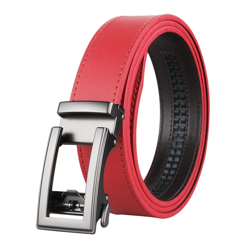 Famous Brand Belt Men Top Quality Genuine Luxury Leather Belts for Men Strap Male Metal Automatic Buckle 3.5cm Golf Belt