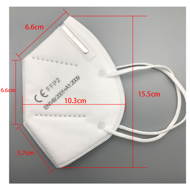 FFP2 Mask Anti-Dust Masks Breathable KN95 Face Mask Mouth 4-Layer Safe Personal Protect Filter In Stock wholesale Price 3