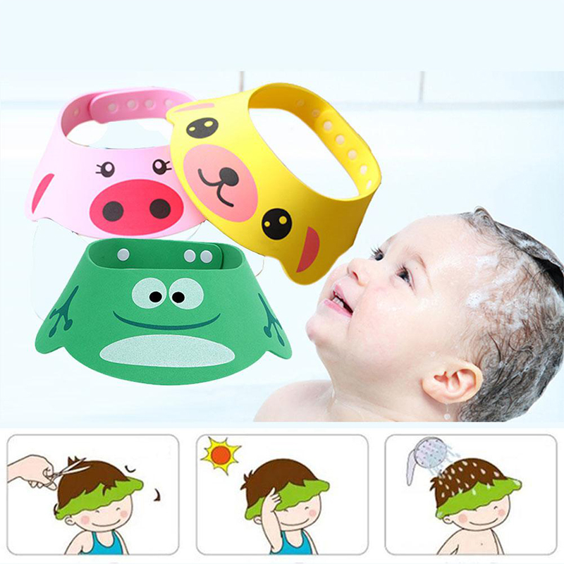 Baby Shampoo Shower Cap Adjustable Bath Cap Shower Hat Bath Visor Kids Bath Protect Bath Wash Hair Shield Hat Protect Eyes Hair