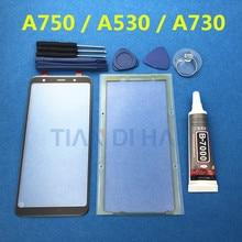 Voorzijde LCD touch screen outer glas lens vervanging Voor samsung galaxy A7 A8 Plus A8 + A8 2018 A750 A750F A730 a530 Lijm & Gereedschap