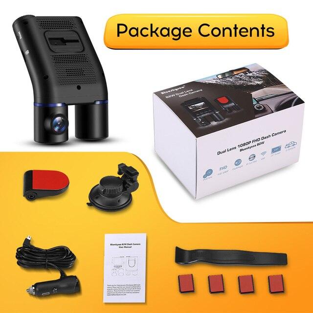 Blueskysea B2W Dual Lens WIFI DashCam for Uber Lyft Taxi Night Vision Car Camera Full HD1080P DVR Recorder Rear View Dash Camera 5