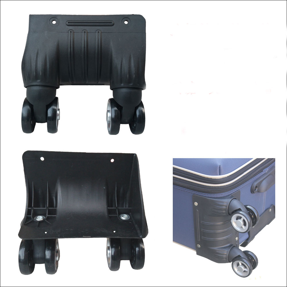 Wheel Trolley Case Accessories Siamese Universal Wheel Mute Roller Suitcase Repair Double Row Aircraft Rim Pulley