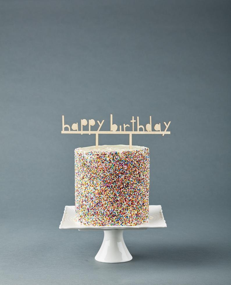 Sensational Customize Cake Topper Simple Birthday Cake Topper Wooden Wedding Funny Birthday Cards Online Elaedamsfinfo