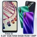 S7 Четырехъядерный 4G RAM 64G ROM Android смартфоны 13MP HD камера Капля воды экран 6,26 ''19:9 лицо разблокирован глобальный мобильный телефон