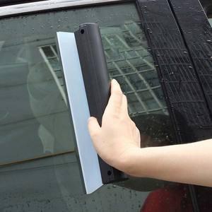Image 3 - Dayanıklı araba su kazıyıcı yağmur temizleme kürek cam temiz fırça temizleyici silikon silecek T şekli pencere temiz fırça