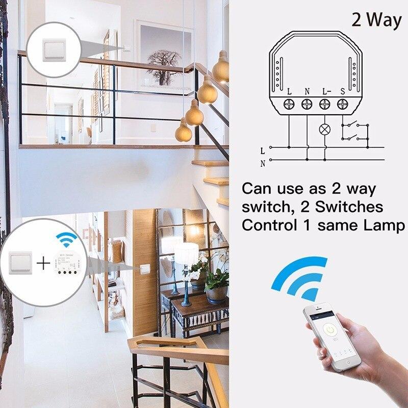 LED Dimmer Switch DIY Smart WiFi Light Smart Life/Tuya APP Remote Control 1/2 Way Switch,Works With Google Alexa Echo Home