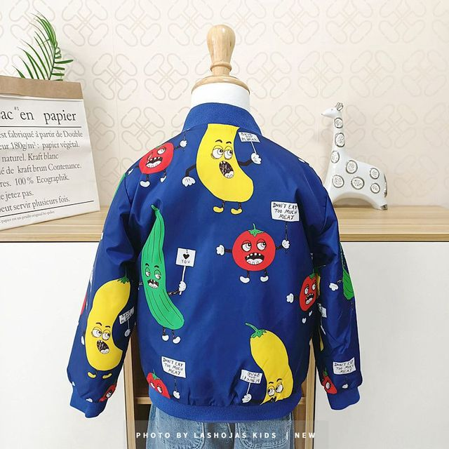 Winter Baby Girls Boys Vegetables Printed long Jacket Kids Keep Warm Thick  Fruits Parkas Coats Children Girls Outerwear Boys Cl 2