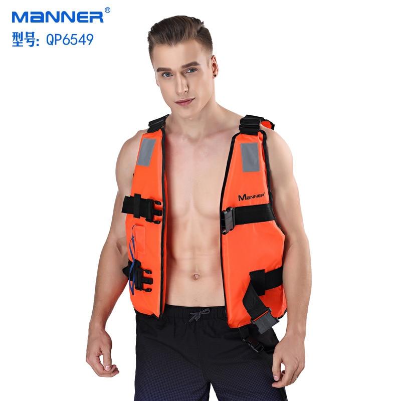 MANNER Adult Fu Li Yi Foam Swimming Marine Vest Fishing Suits Waistcoat Non-Professional Life Jacket Cross Border