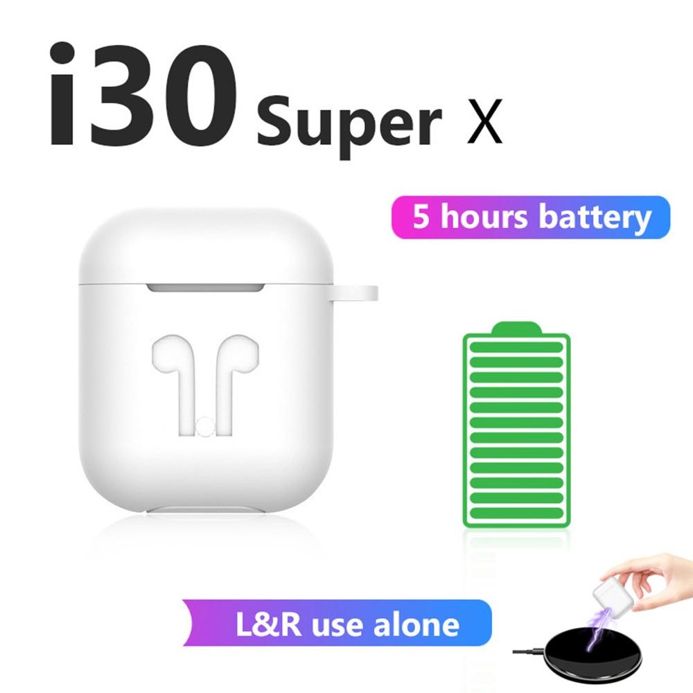 I30 Super X XS TWS 5 Hours Play Wireless Earphone Bluetooth Earphones 6D Bass Earbuds PK W1 Chip I30 I12 I11 I10 I9s I7s TWS I30
