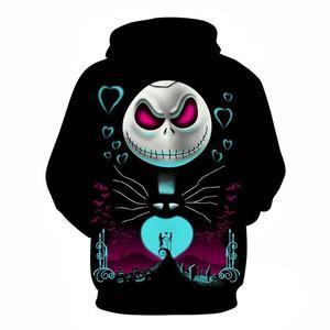 Image 2 - The Nightmare Before Christmas Jack czaszka Cosplay bluza z kapturem mężczyźni kobiety moda bluza z kapturem bluzy Halloween kostiumy topy