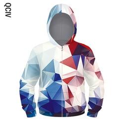 Colorido blocos imprimir manga longa meninas meninos hoodie moda zíper moletom com capuz crianças jaquetas harajuku crianças hoodie topos