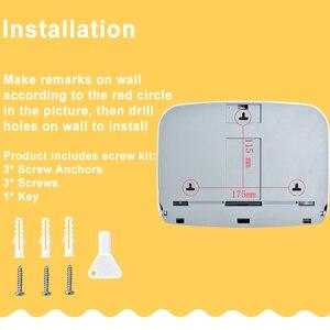 Image 5 - נייר מגבת Dispenser קיר רכוב רקמות מחזיק ומכופלים נייר מגבת מכשירי עבור משרד בית מטבח מסחרי אמבטיה